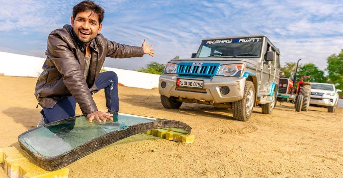 Bulletproof glass vs Toyota Fortuner, Mahindra Bolero & tractor