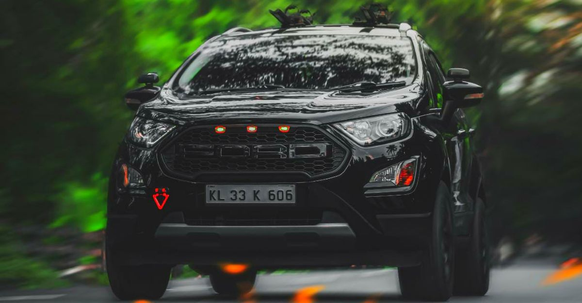 All Black Ford Ecosport Is Tastefully Modified