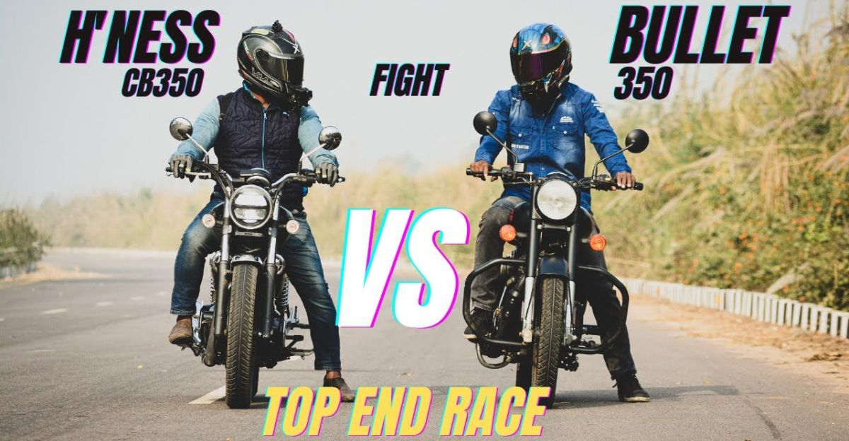 Royal Enfield Classic 350 takes on the Honda CB350 H'Ness in a drag race