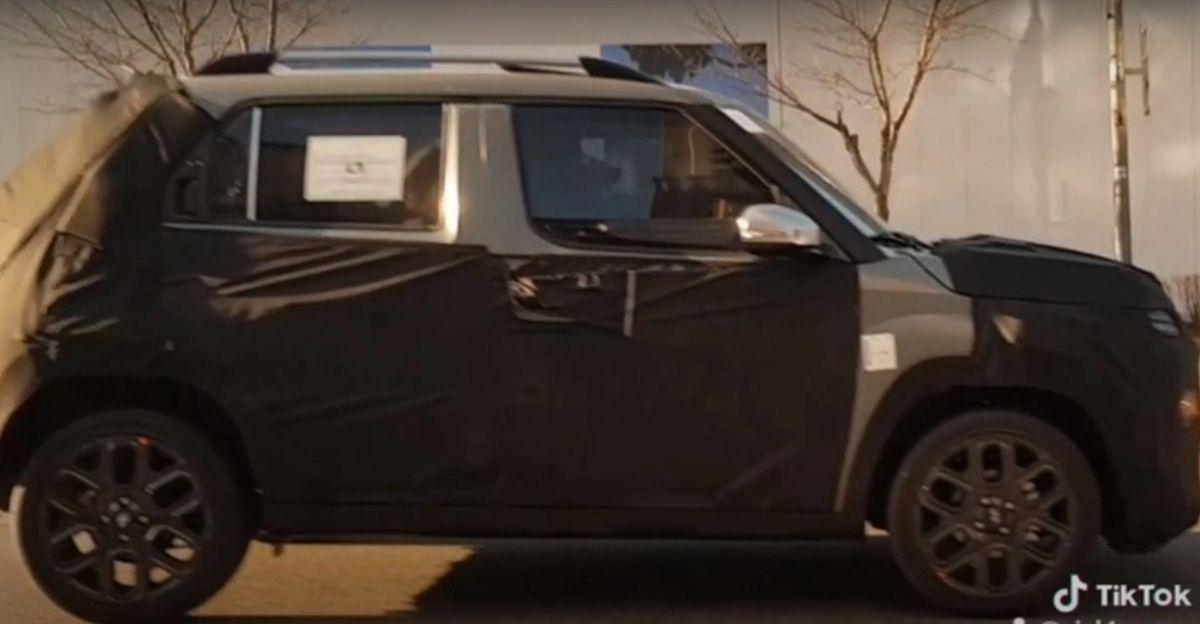 Hyundai's Maruti S-Presso rival spied again