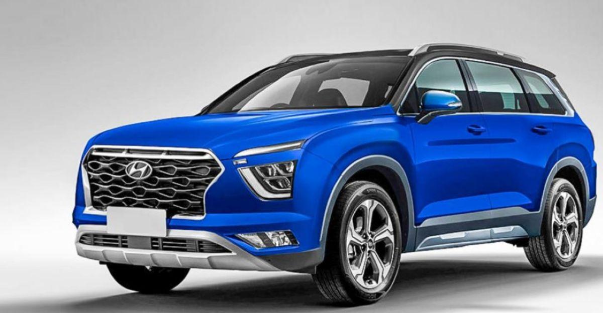 2021 Hyundai Creta 7-seater compact SUV spied on Indian roads