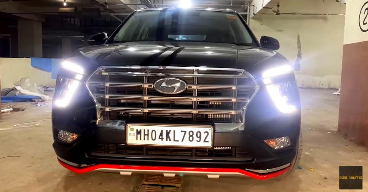 2020 Hyundai Creta with Audi-style Matrix LED tail bar