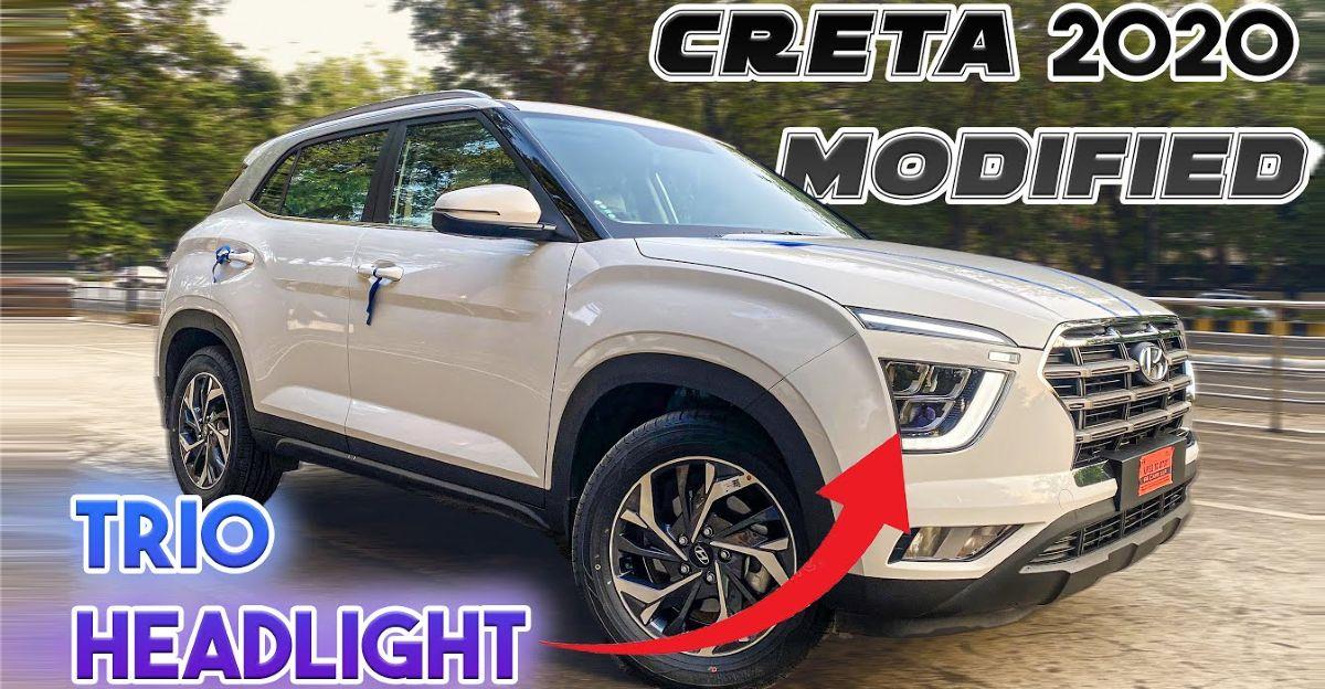 Hyundai Creta E base trim modified to look like SX trim