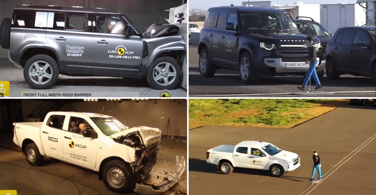 Isuzu D-Max and Land Rover Defender score five stars in Euro NCAP rating