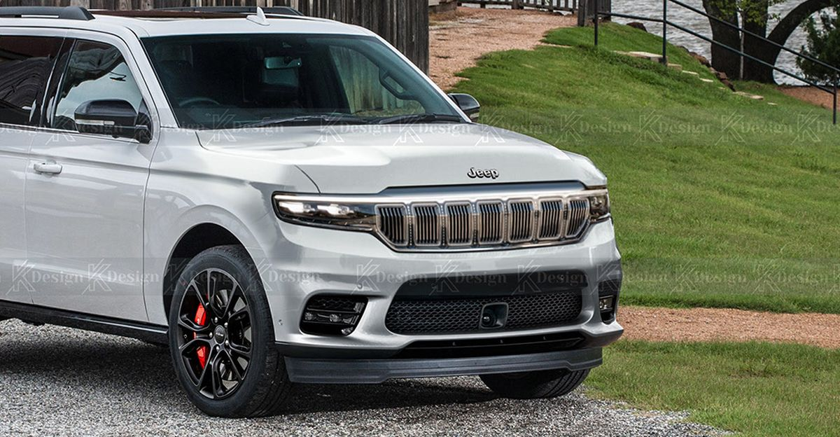 7 Seat Jeep SUV for India rendered