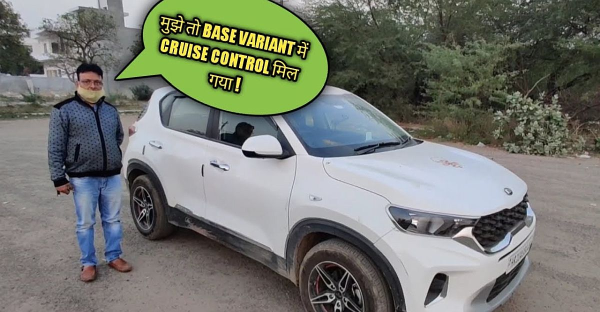 Base trim of Kia Sonet gets converted to top trim with cruise control for Rs. 70,000