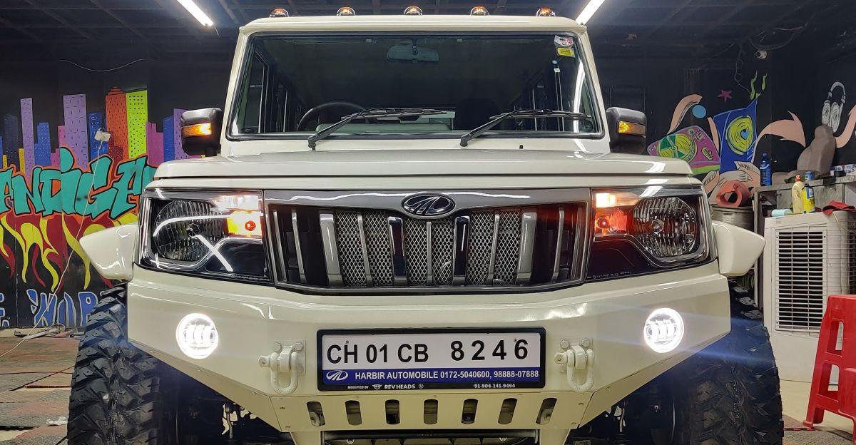 Mahindra Bolero modified to look butch and aggressive
