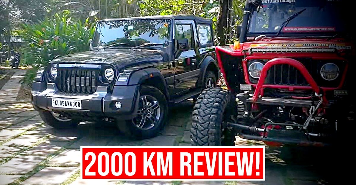Owner reviews 2020 Mahindra Thar after completing 2,000 kms