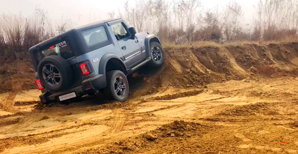 All-new Mahindra Thar 4X4 shows off its off-road abilities
