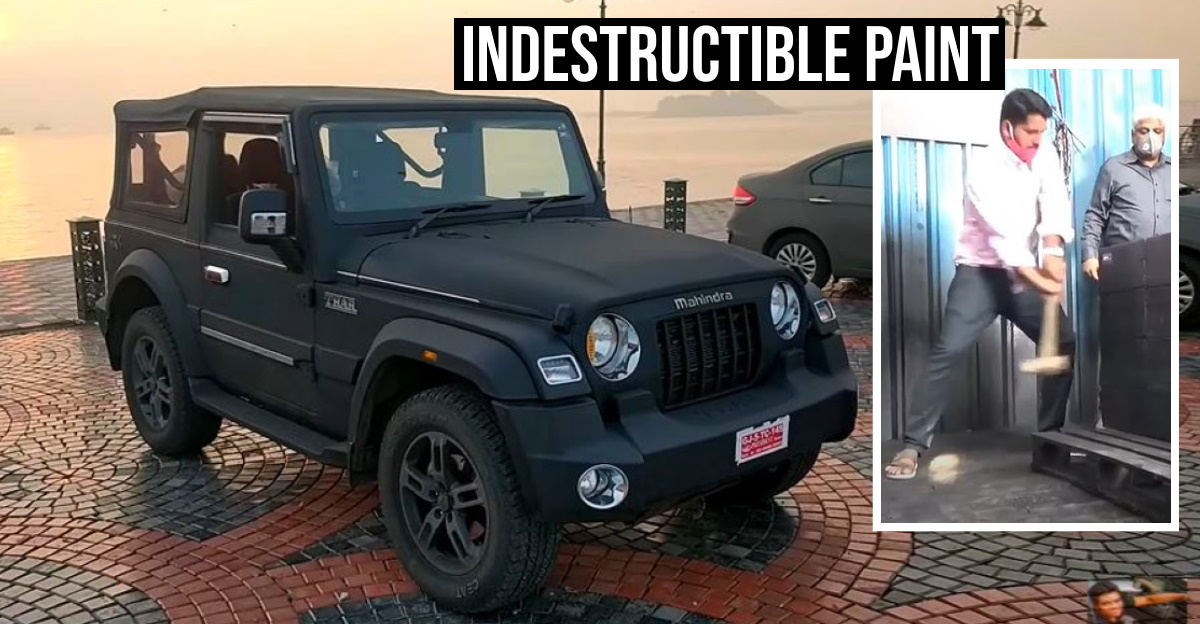 New Mahindra Thar with 'scratchproof' PU paint