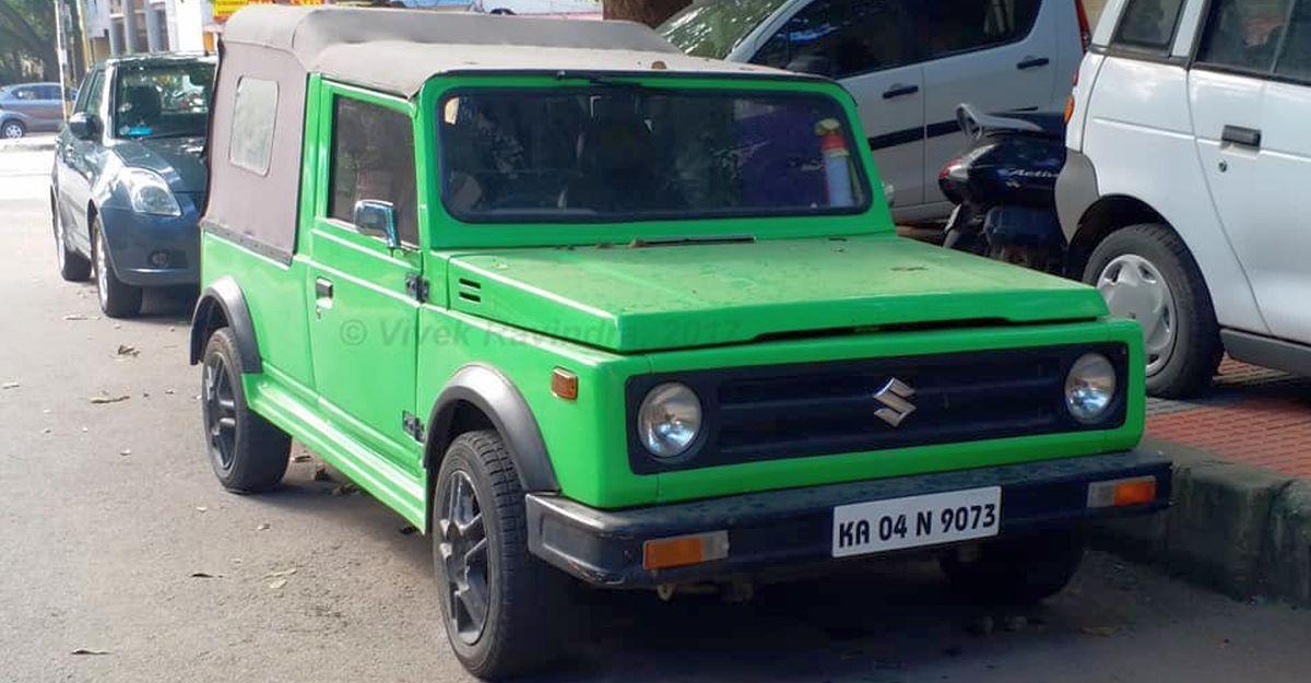 Maruti 800 modified to look like lowered Gypsy