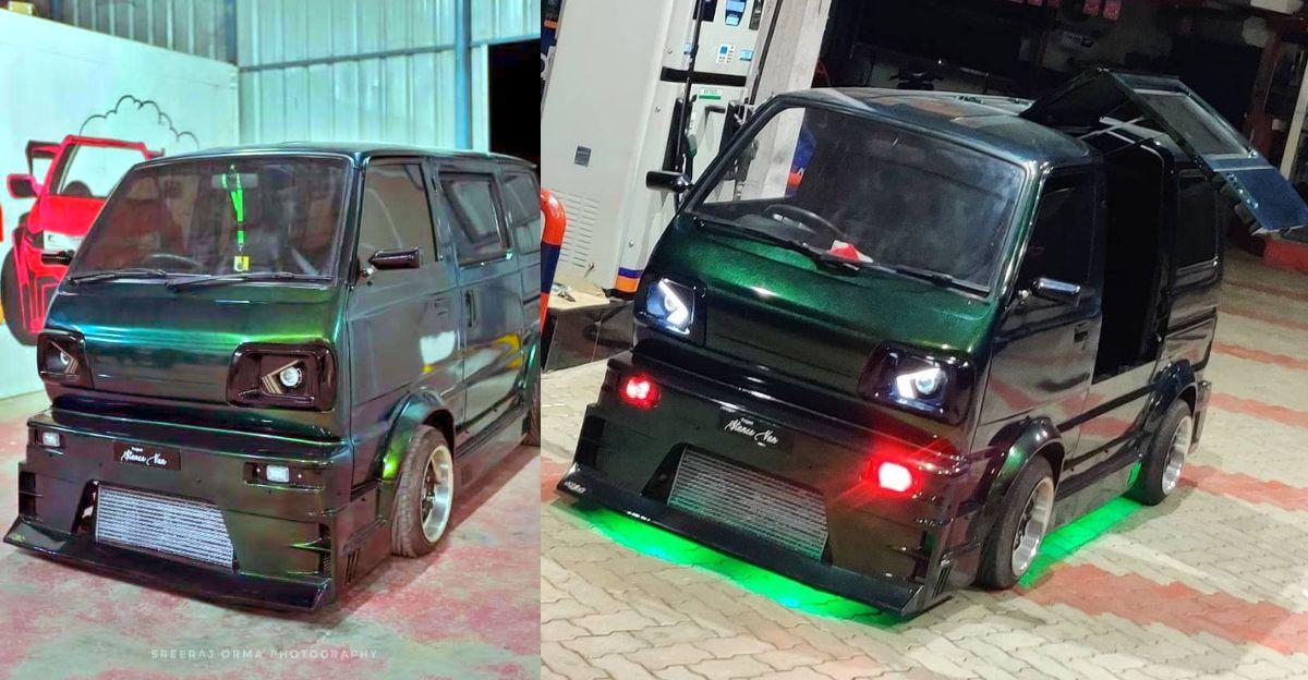Modified Maruti Suzuki Omni is a road hugging monster