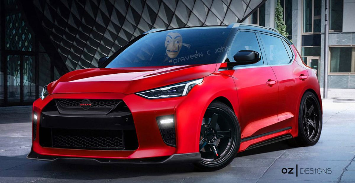 Nissan Magnite compact SUV reimagined as a low rider with GT-R kit