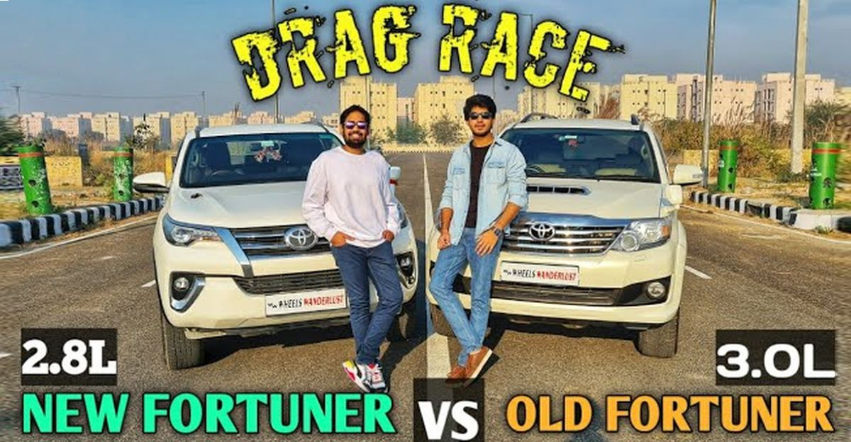 Old Toyota Fortuner takes on New Toyota Fortuner in a drag race