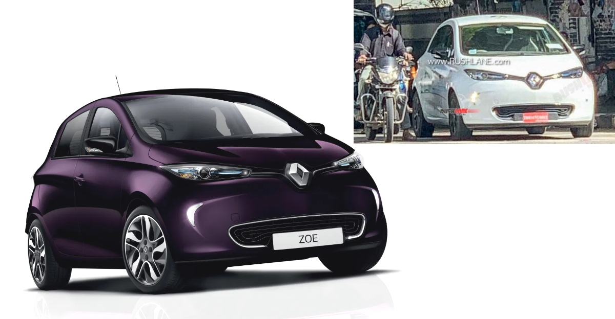 Renault's Electric hatchback Zoe spotted testing in India