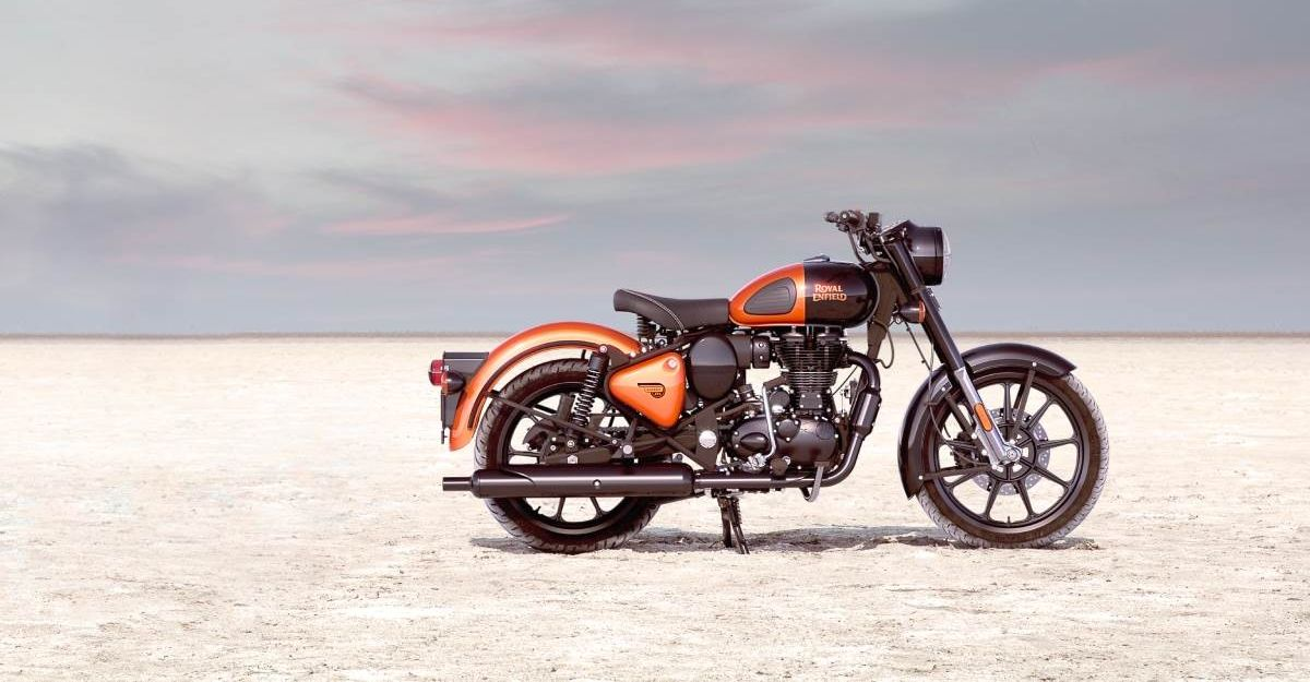 Royal Enfield Classic Metallo Silver & Orange Ember: In Images