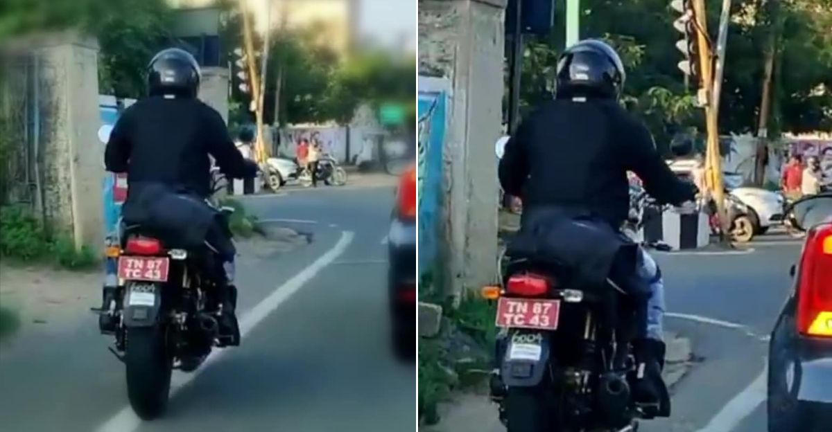 Royal Enfield Interceptor 350 spied for first time