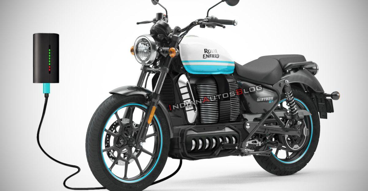 Royal Enfield Meteor Electric motorcycle rendered