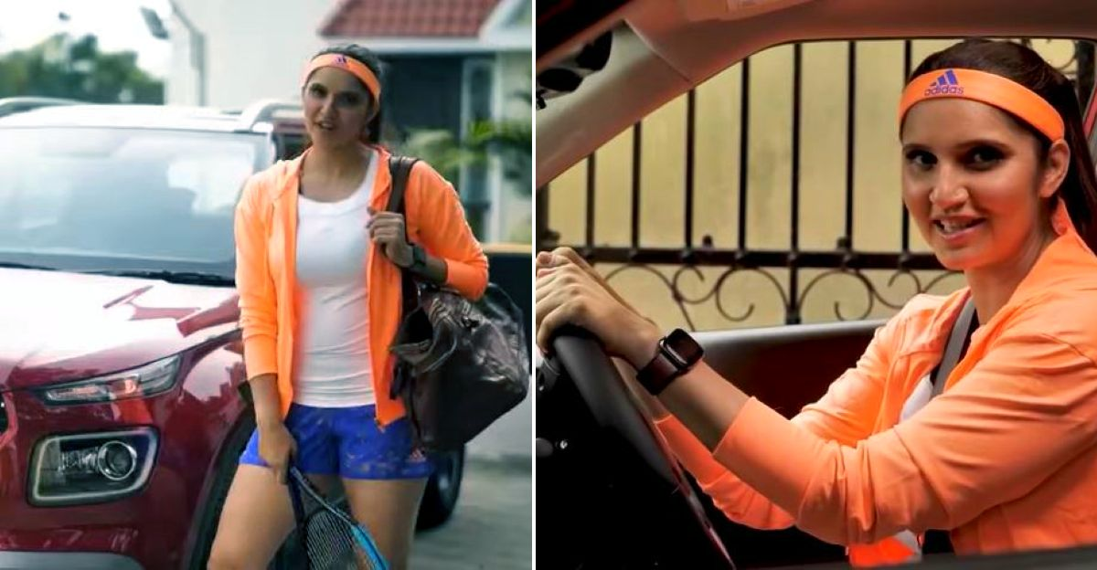Tennis ace Sania Mirza takes a spin in the Hyundai Venue iMT
