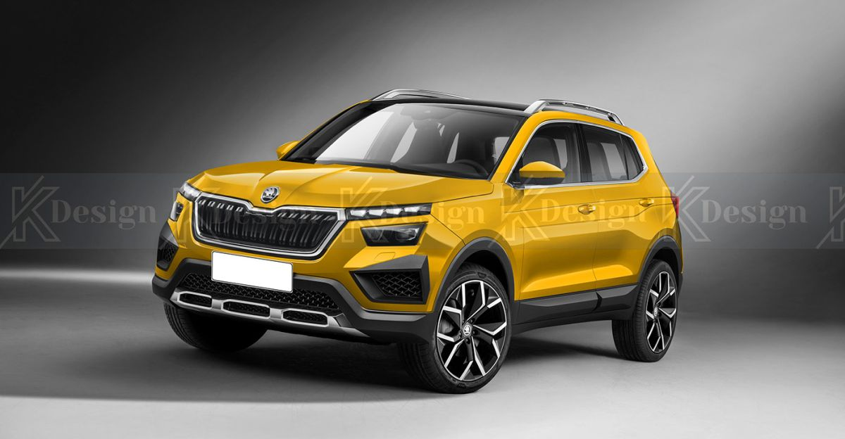 New renders of Skoda VISION IN SUV out; Will rival Hyundai Creta