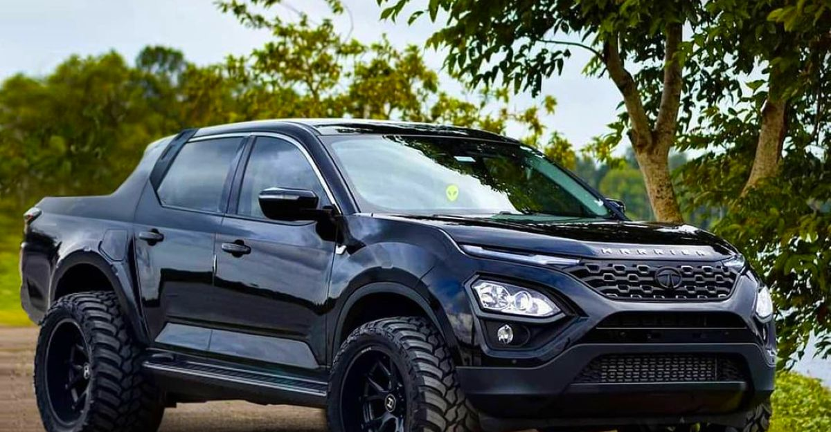 Tata Harrier re-imagined as a pickup truck