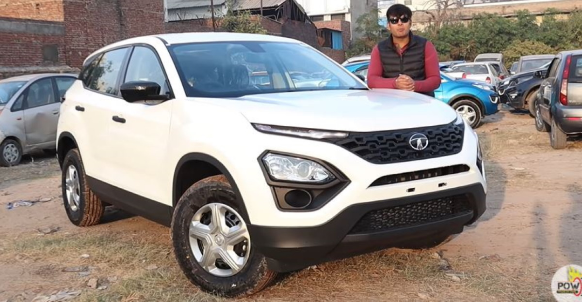 Least-priced Tata Harrier XE variant in a walkaround video