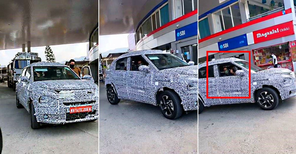 Tata Hornbill HBX micro SUV's angry test driver makes a rude gesture on camera