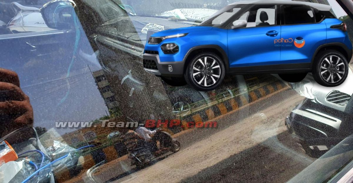 Tata Hornbill HBX micro SUV interiors spied for the first time