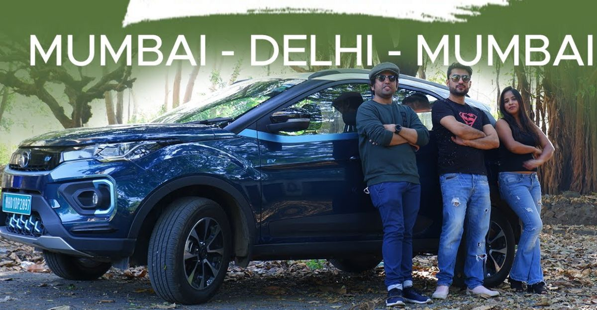 Couple drive Tata Nexon Electric SUV from Mumbai to Delhi