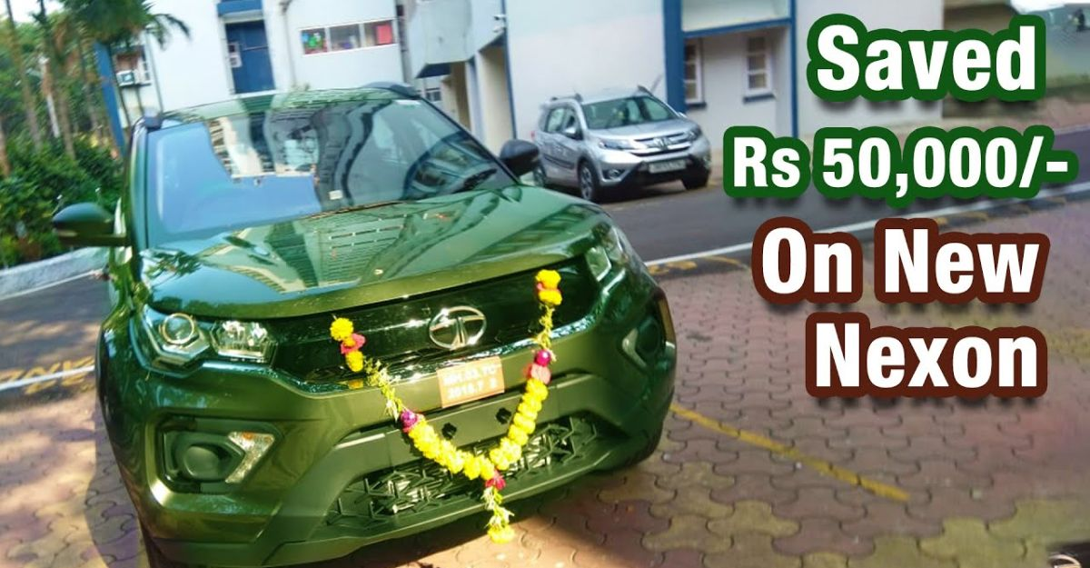 Tata Nexon owner explains how he saved Rs. 50,000 while buying the compact SUV