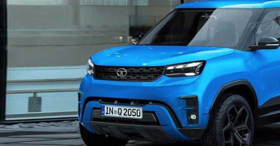 Tata Sierra SUV's production version rendered