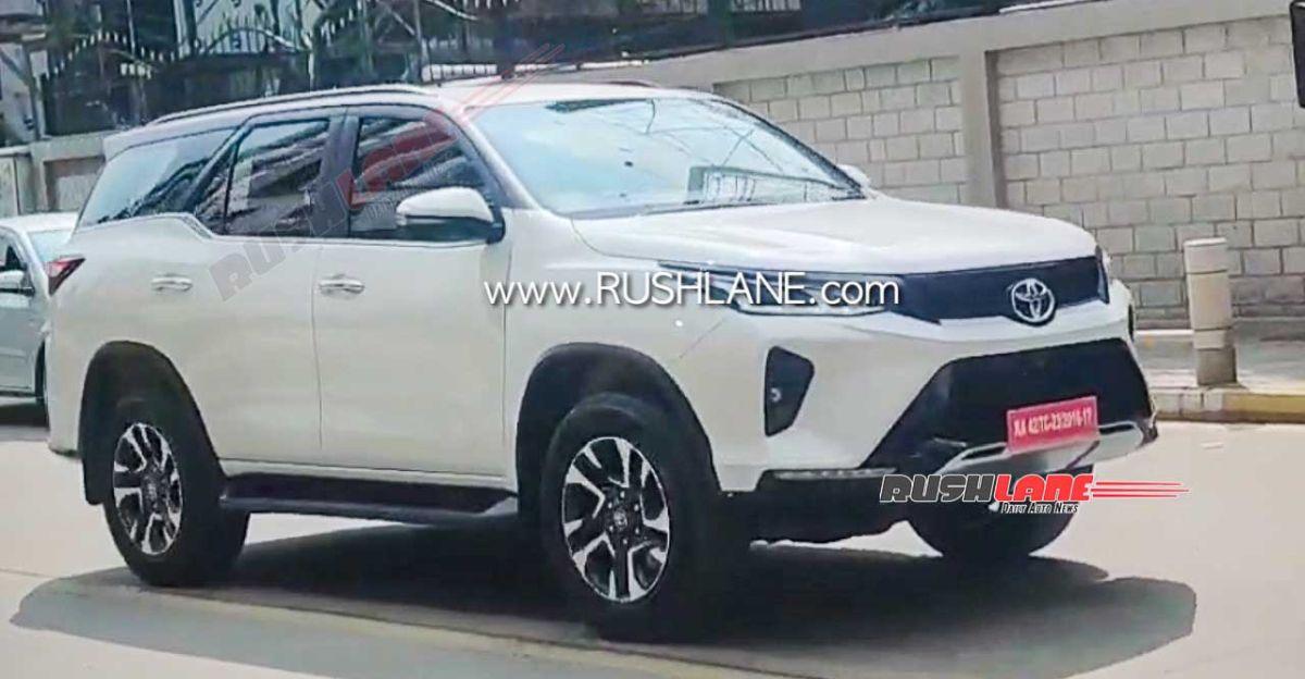 2021 Toyota Fortuner Legender SUV spied during TVC shoot