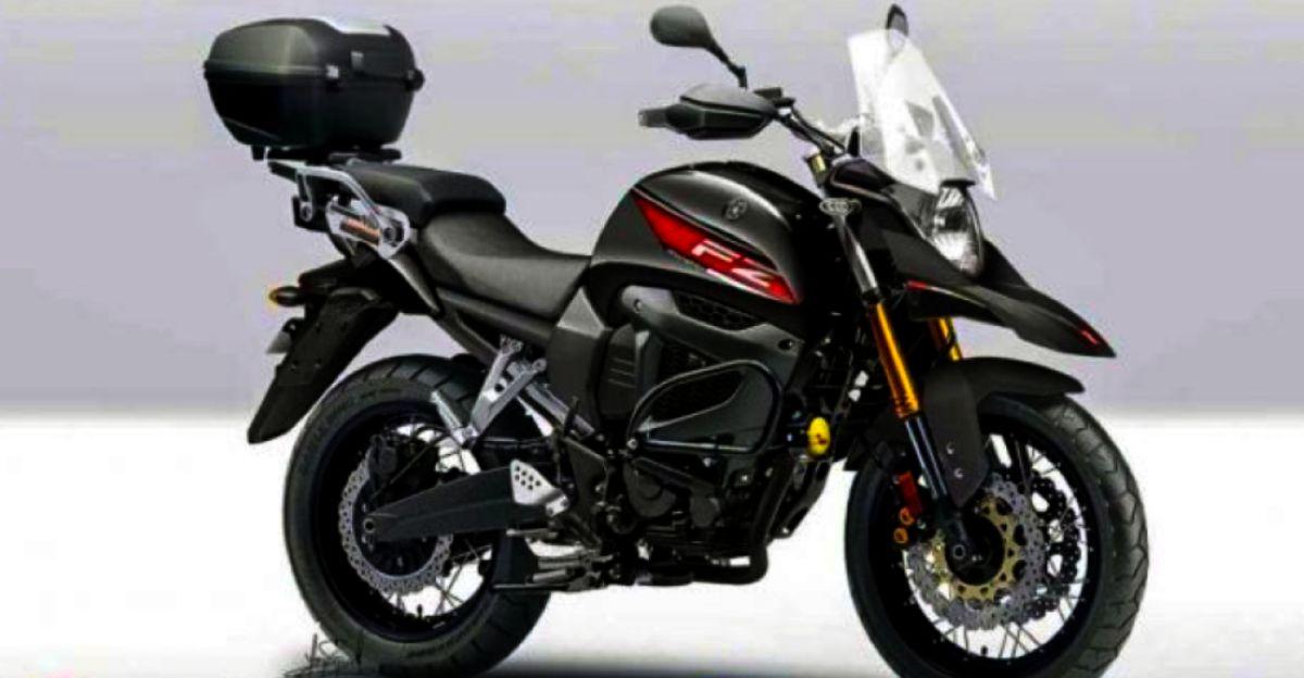 Yamaha FZ-X touring motorcycle rendered