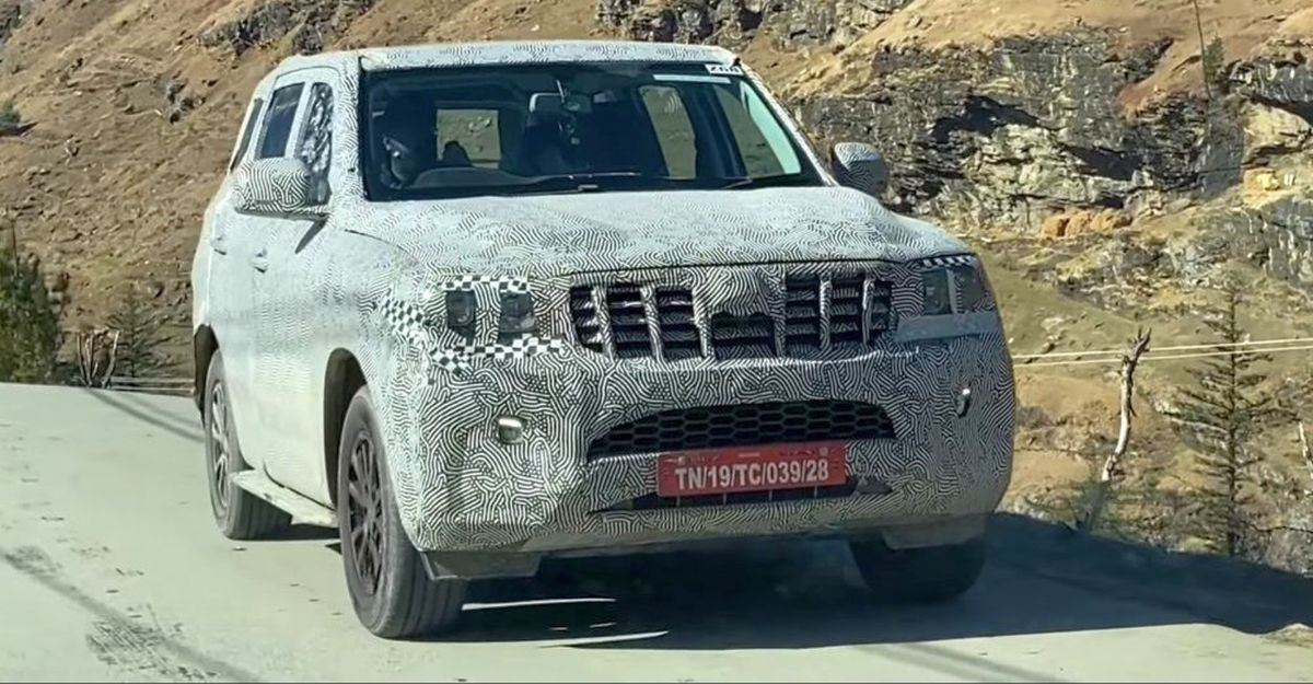 Production version of the next-gen Mahindra Scorpio SUV spied again
