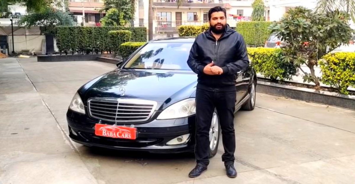 Used Mercedes Benz S-Class with 5,500cc V8 engine selling for under Rs. 10 lakh