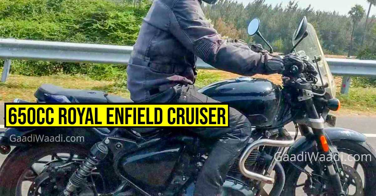 Production-ready Royal Enfield 650cc cruiser spotted before official launch
