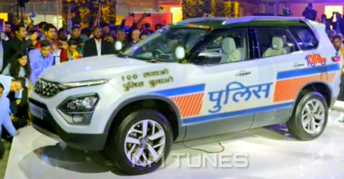 All-new Tata Safari SUV reimagined as a police car