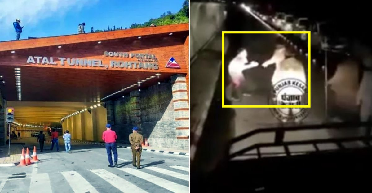 Himachal Police officials thrash a man inside Atal Tunnel, video goes viral
