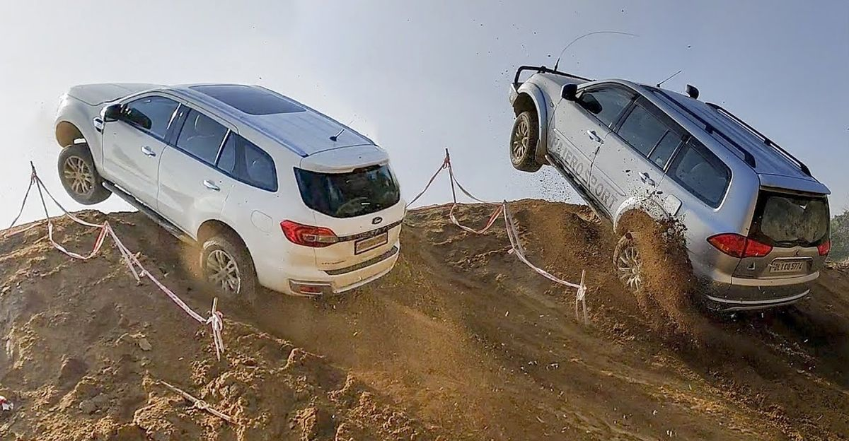Maruti Gypsy nails this super steep off road climb that every other SUV struggles with