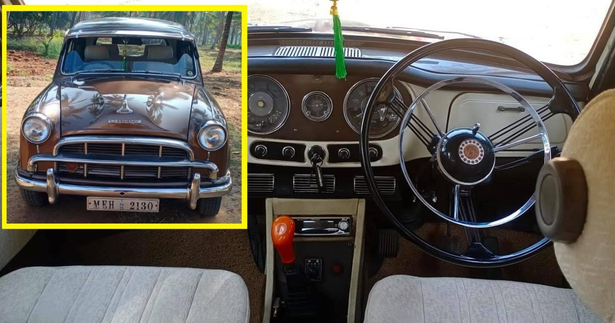 60 year-old, beautifully maintained Hindustan Ambassador for sale