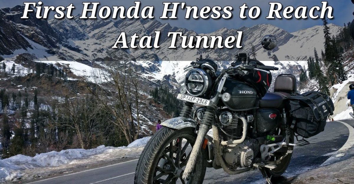 First Honda CB350 H'Ness motorcycle to reach Atal Tunnel