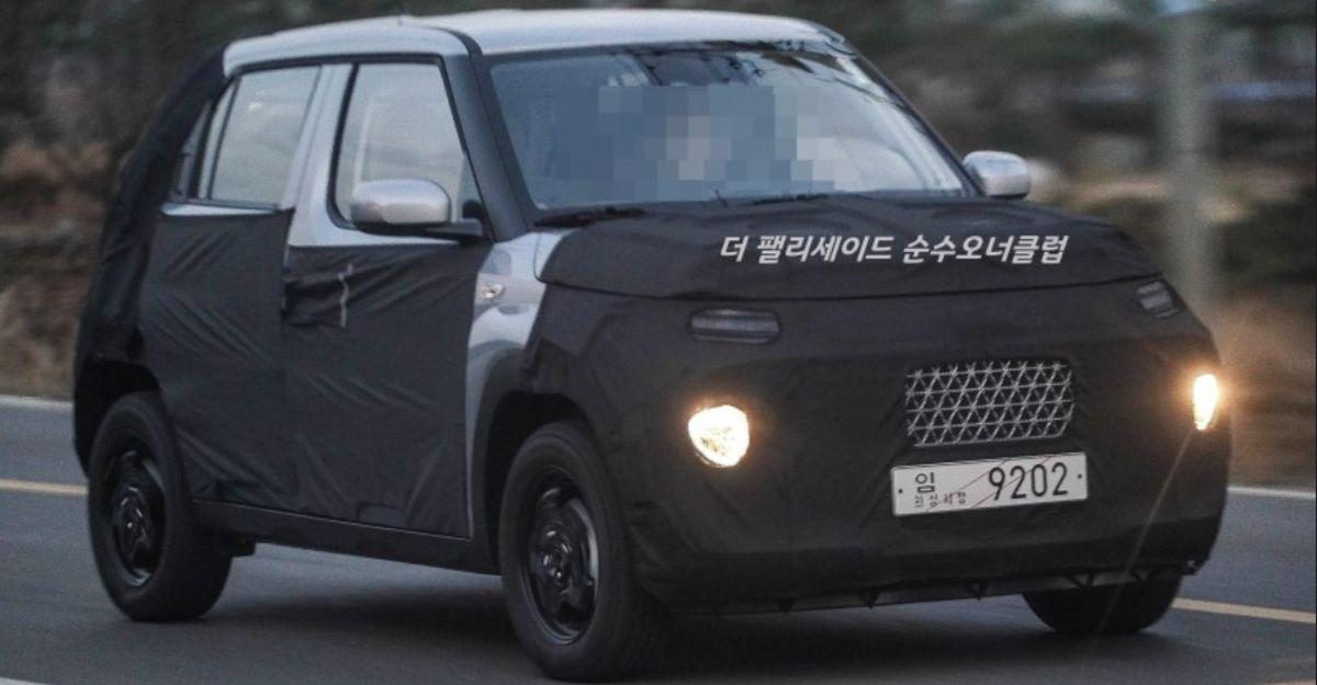 New spyshots of the Hyundai AX1 surface: Maruti S-Presso rival