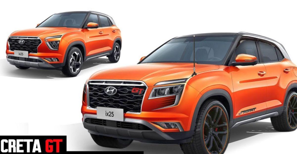 All-new Hyundai Creta GT Edition rendered