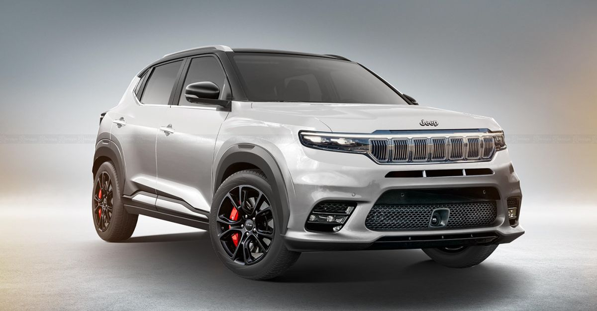 New Render Shows What Jeep India S Sub 4 Meter Compact Suv Could Look Like