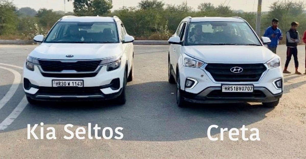 Kia Seltos 1.5 diesel vs old-gen Hyundai Creta 1.4 diesel in a drag race