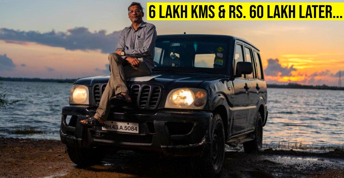 HV Kumar of HVK Forum clocks 6 lakh kms in his Mahindra Scorpio, spends Rs. 60 lakh on fuel and maintenance