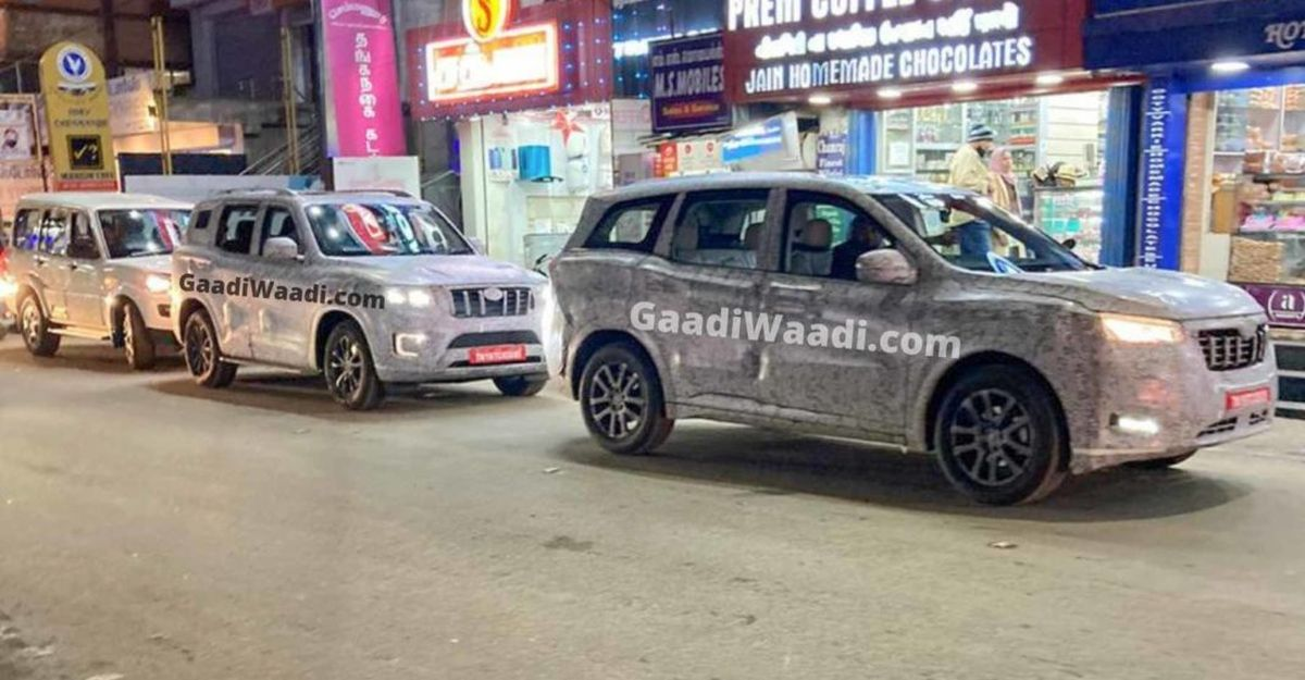 Mahindra 2021 Scorpio & 2021 XUV500 spied together on Indian roads
