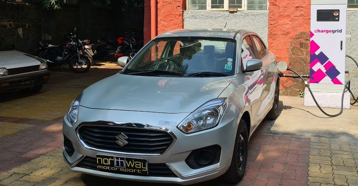 This is India's first Maruti Suzuki Dzire converted into an Electric Vehicle