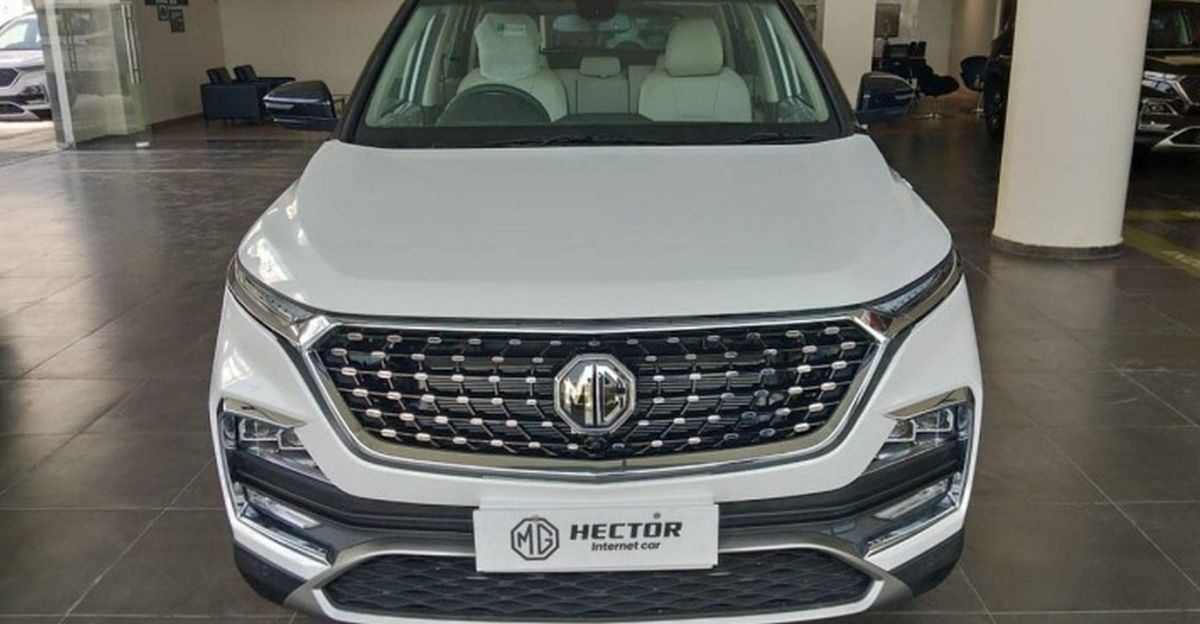 Fresh images of MG Hector SUV Facelift surface ahead of launch