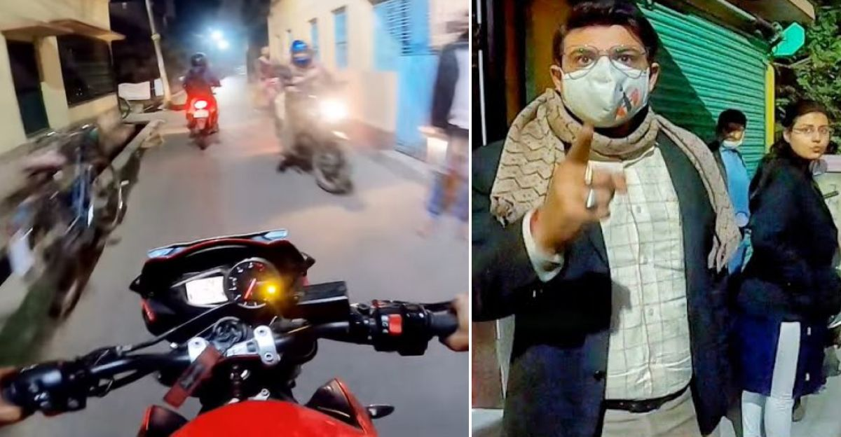 Cops detain superbike rider after neighbour complains about loud exhaust